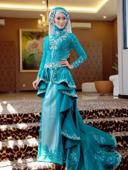 muslim-wedding-dress-blue