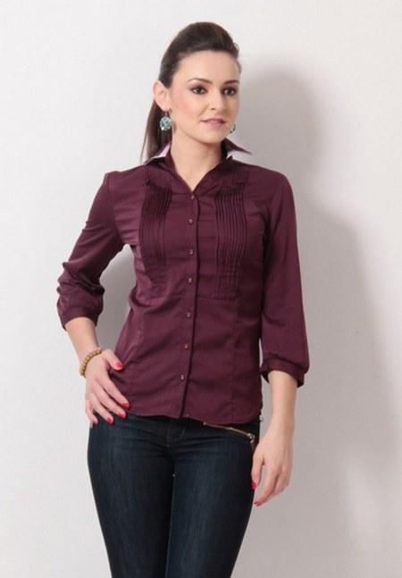 wine-women-semi-formal-shirt