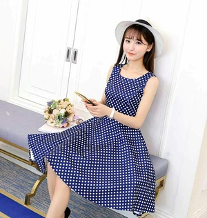 Padu-Padan Polkadot Dress