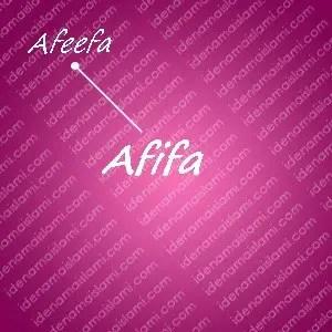 variasi arti nama afifa untuk nama bayi perempuan islami