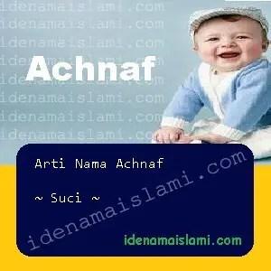 arti nama achnaf