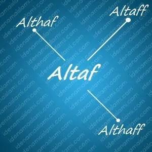 variasi arti nama Altaf untuk nama bayi laki laki islami