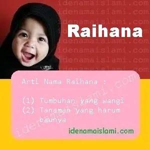 arti nama Raihana