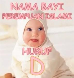 Nama Bayi Perempuan Islami Huruf D
