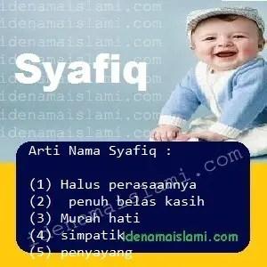 arti nama Syafiq