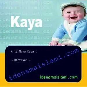 arti nama Kaya