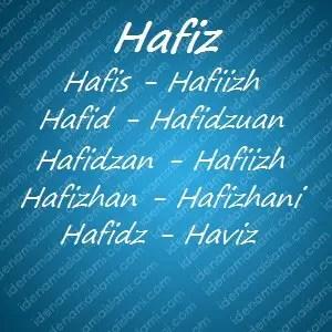 variasi arti nama Hafiz untuk nama bayi laki laki islami