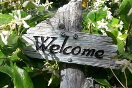 Letrero de bienvenida
