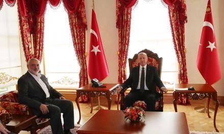 Quand le terroriste Ismail Haniyeh se felicite du soutien d'un criminel de guerre turc