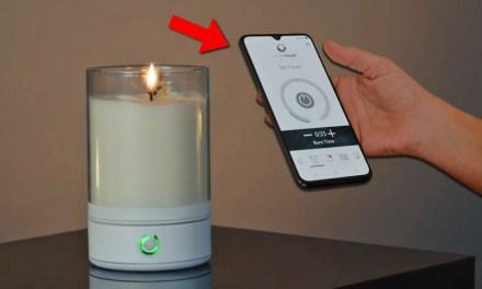 ISRAËL: LA PREMIÈRE BOUGIE À FLAMME high-tech en cire qui s'allume depuis SON smartphone VIA BLUETOOTH.