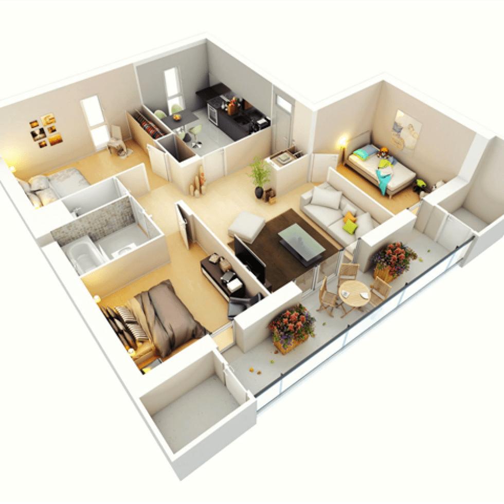 65 Koleksi Gambar Rumah Minimalis Modern 3 Kamar Gratis Terbaik
