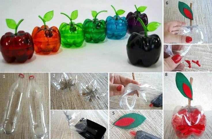 hiasan buah apel dario botol plastik - IDEPROPERTI.COM