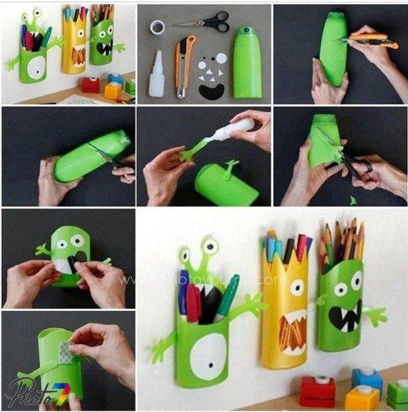 tempat pensil dari botol plastik- IDEPROPERTI.COM