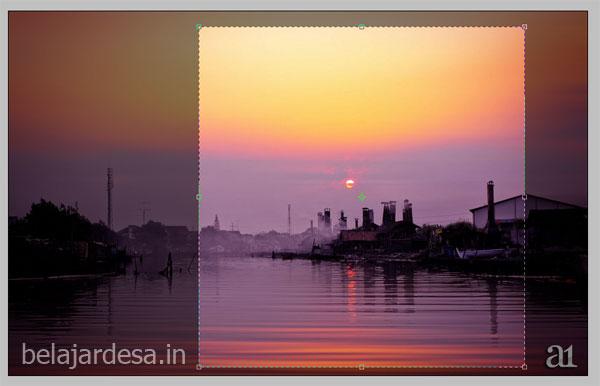 Foto sunset sebagai sampel warna
