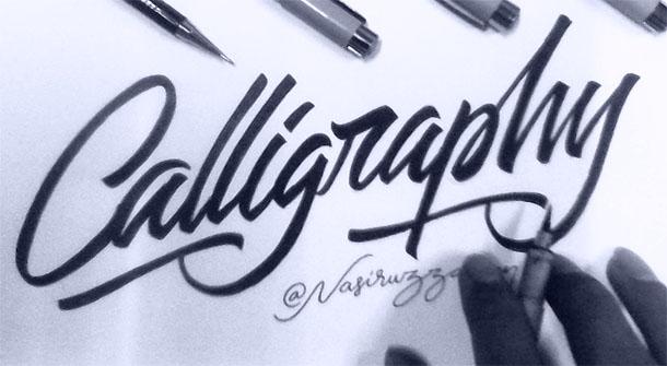 Tutorial Dasar Belajar Kaligrafi Dengan Brush Pen Idesainesia