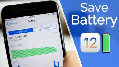 Saving battery iOS 12