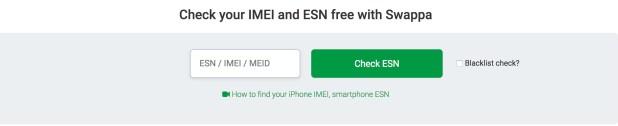 Free iPhone IMEI checker