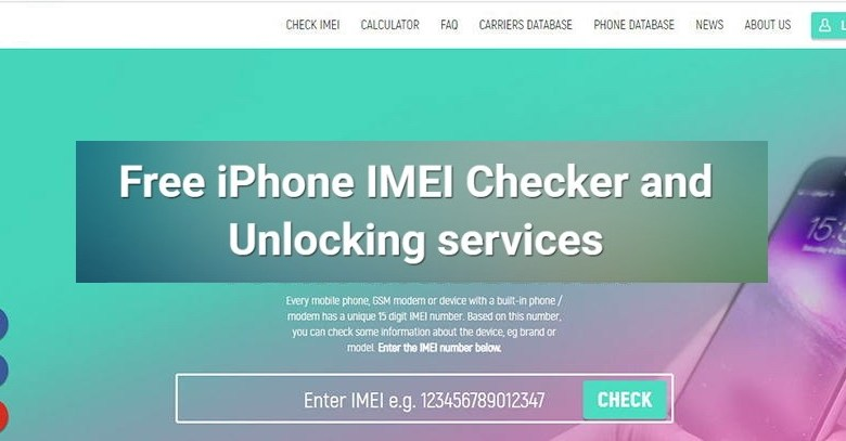 free iphone imei check