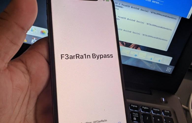 F3arRa1n Setup.app icloud bypass 13.3.x