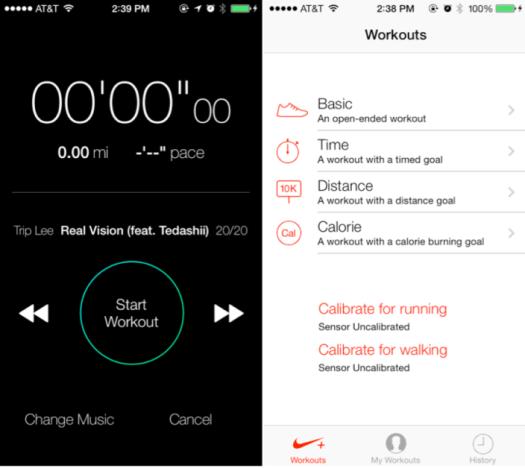 Nike+ di iOS 7 Beta 2