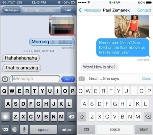 iOS 6 vs iOS 7 Messages App