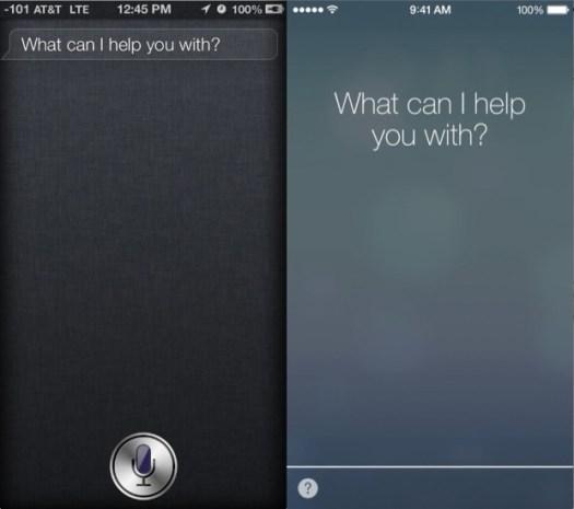 iOS 6 vs iOS 7 Siri