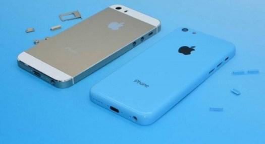 iPhone 5S dan iPhone 5C Biru