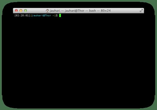 Aplikasi Terminal OS X