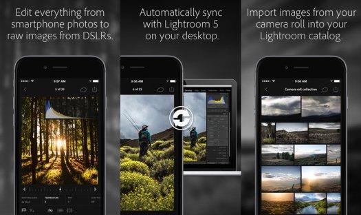 Adobe Lightroom-1.3, Aplikasi iOS, Editing Foto