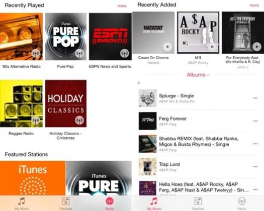 iOS 8.4 beta, Music App