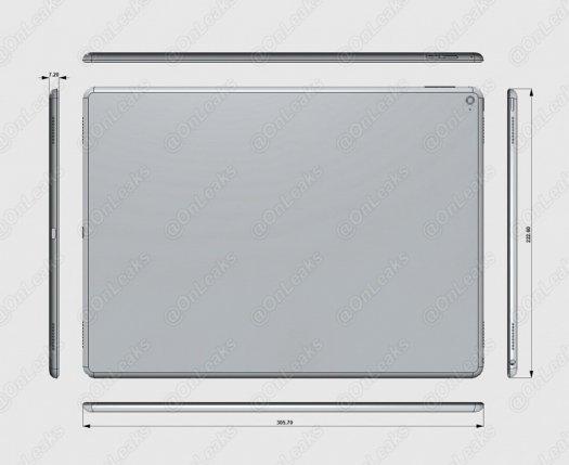 Bocoran Skema Desain dan Ukuran iPad Pro