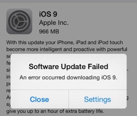 Bugs, iOS 9