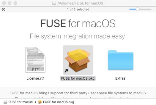 Install Fuse for Mac di MacOS