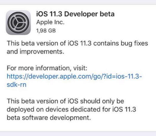 iOS 11 3 1