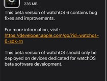 Apple releases watchOS 6.1 beta 1 to developers