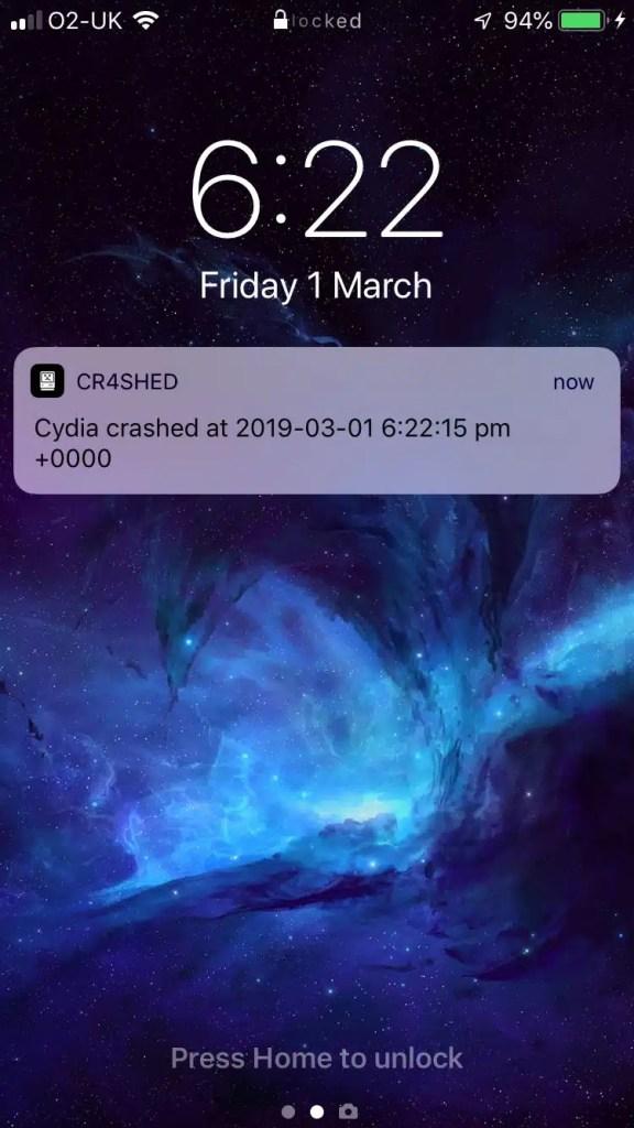 Cr4shed Tweak - iOS Crash Reporter