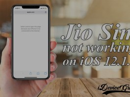 Fix : Jio SIM Data Issue on iPhone after iOS 12.1.1/12.1.2