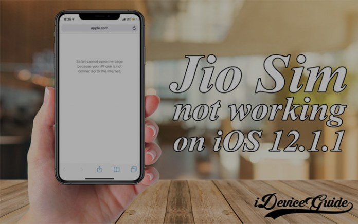 Fix : Jio SIM Data Issue on iPhone after iOS 12 1 1/12 1 2