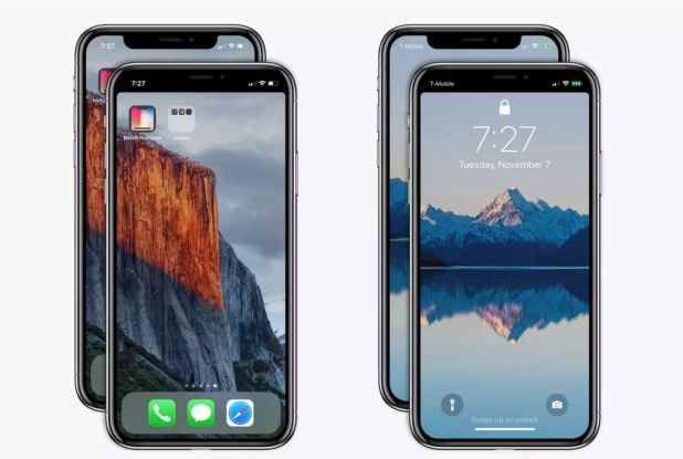 how to add a black bar across the iphonex to hide thenotch