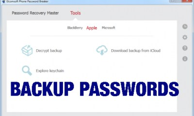 backup passwords iPhone