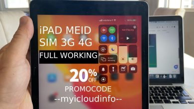 iPad Pro iCloud bypass MEID SIGNAL 4G/3g LTE iOS12 up to 14
