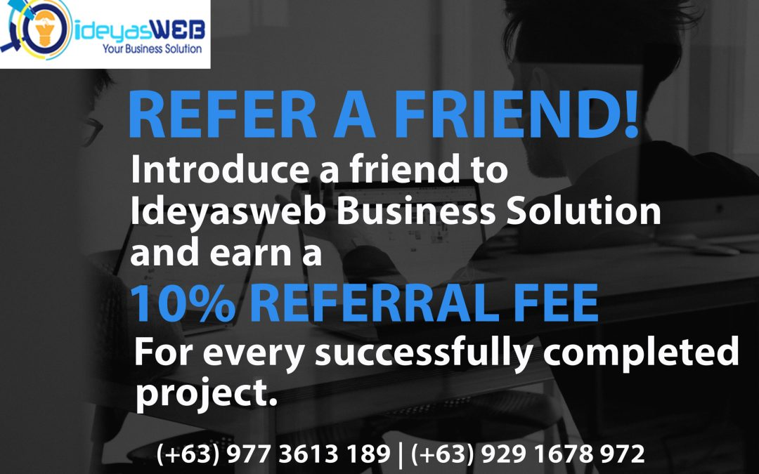 Refer and Earn with Ideyasweb