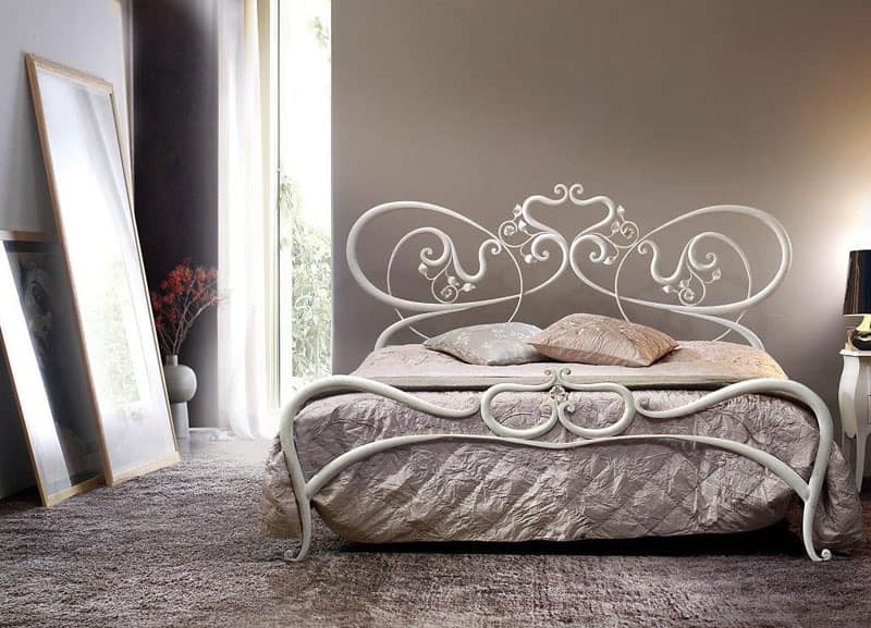 Double Metal Bed, Curved Lines, Romantic Bed