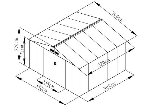 מחסן מתכת גדול ID1111
