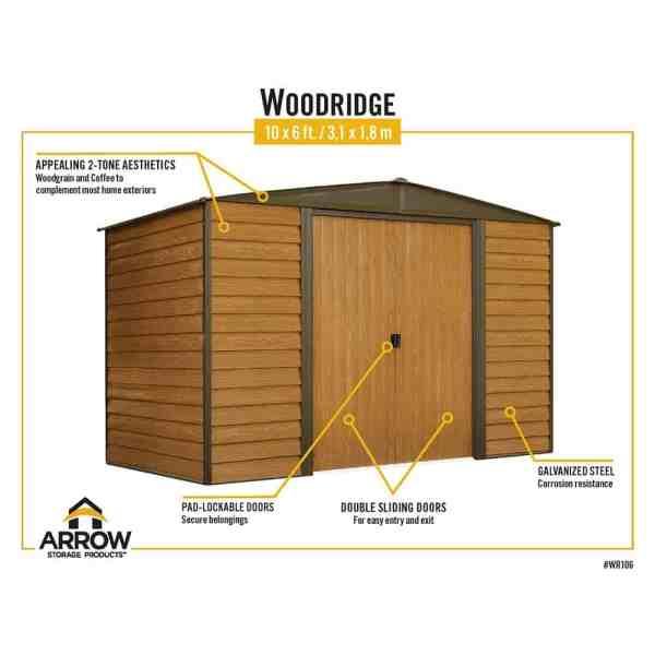מחסן דמוי עץ ARROW