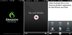Nuance Dragon Dictation app For iPhone iPad iPod Touch