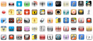 Digital Voice Recorder App icons from iTunes store