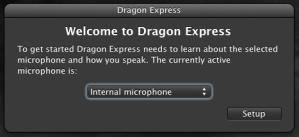 Dragon Express Mac App Store - Setup Mic For Voice Speech Recognition
