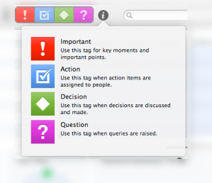 Microcone Recorder Mac App - Tag Audio Based For Highlight Summary
