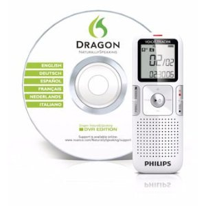 Dragon NaturallySpeaking Digital Voice Recorder DVR Edition with digital voice recorder